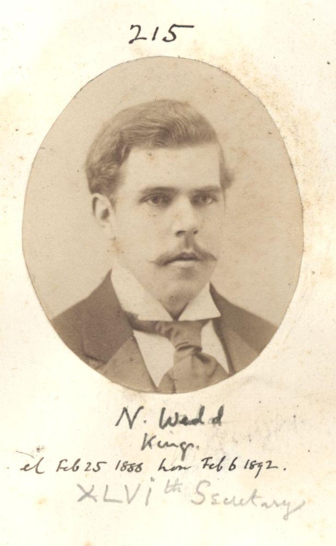 215: Wedd, Nathaniel. [KCAS/39/4/1, Photobook, p.67]