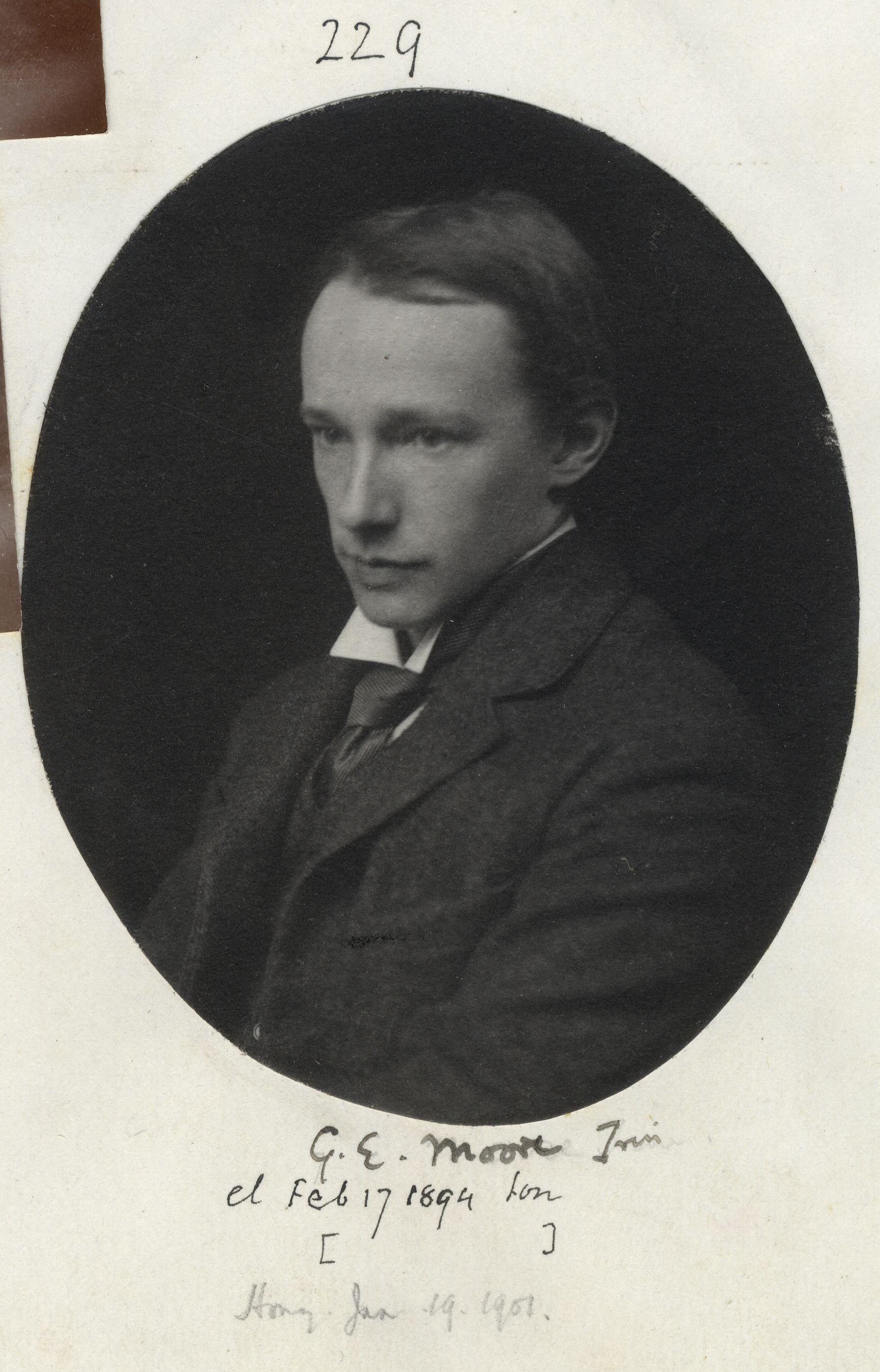 229: Moore, George Edward.  [KCAS/39/4/1, Photobook, p.70]
