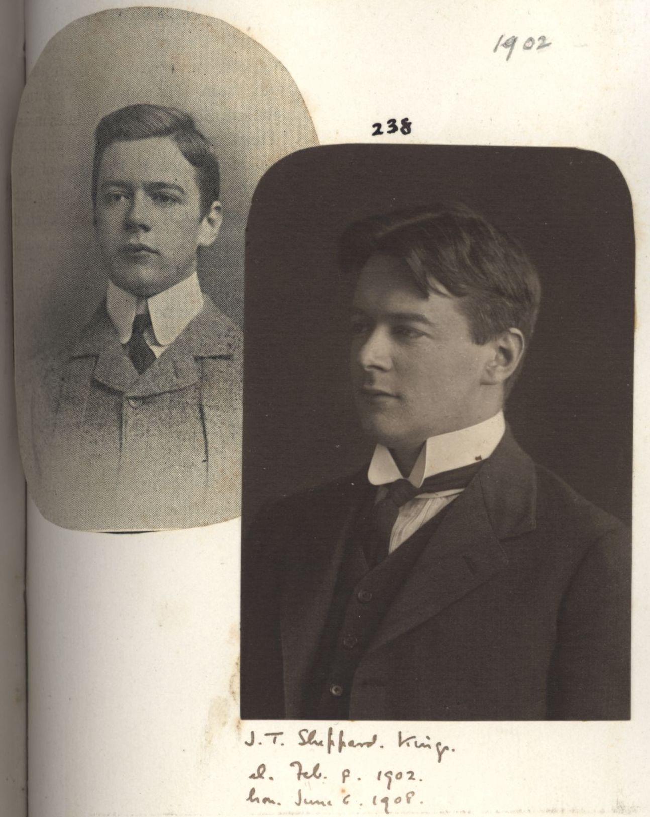238: Sheppard, John Tresidder. [KCAS/39/4/1, Photobook, p.73]
