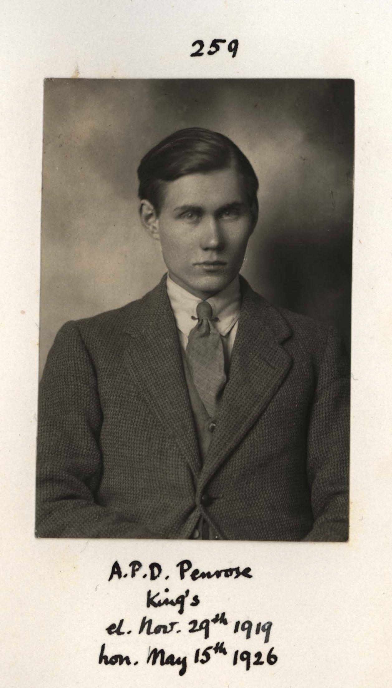 259: Penrose, Alexander Peckover Doyle. [KCAS/39/4/1, Photobook, p.78]