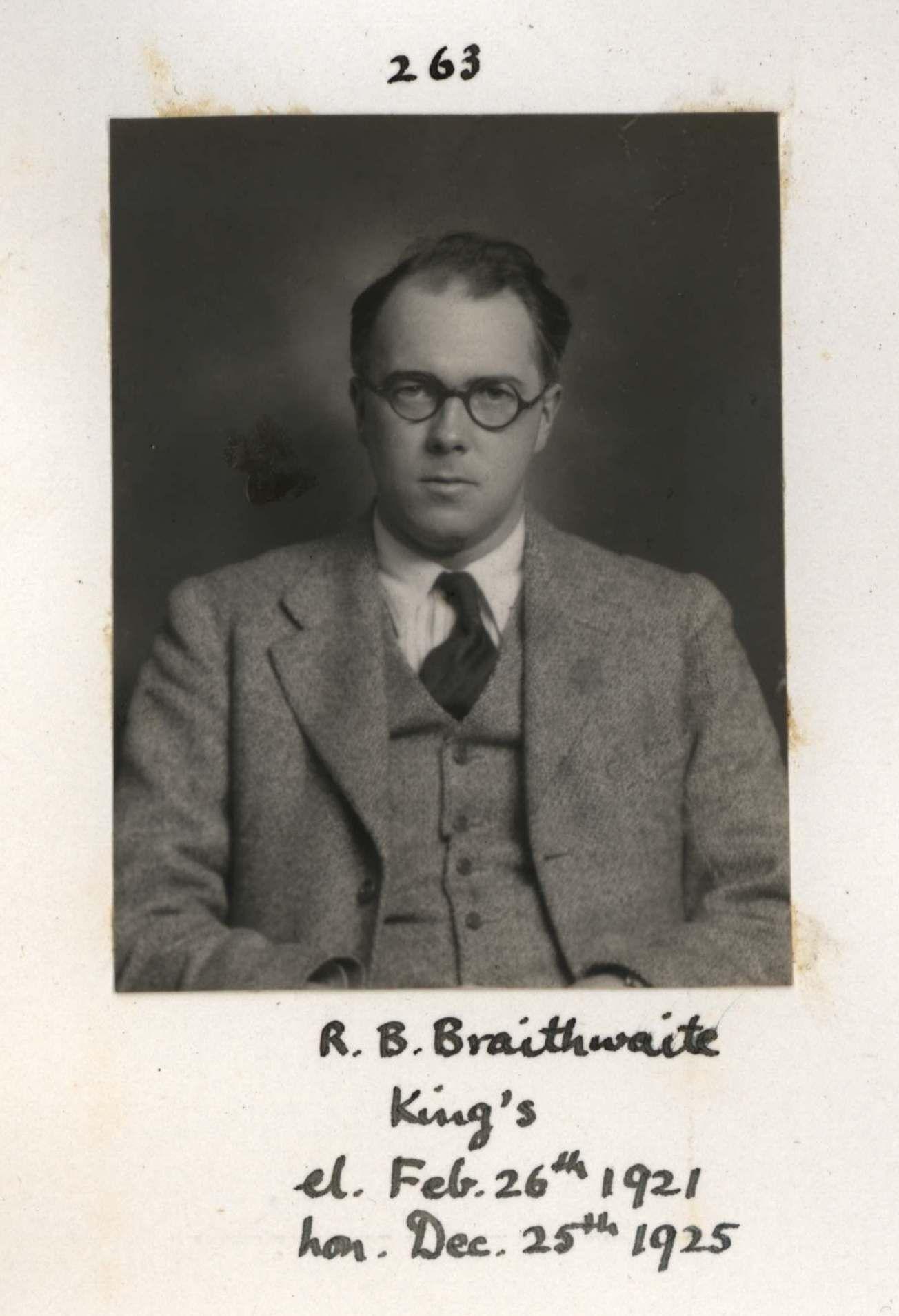 263: Braithwaite, Richard Bevan. [KCAS/39/4/1, Photobook, p.79]