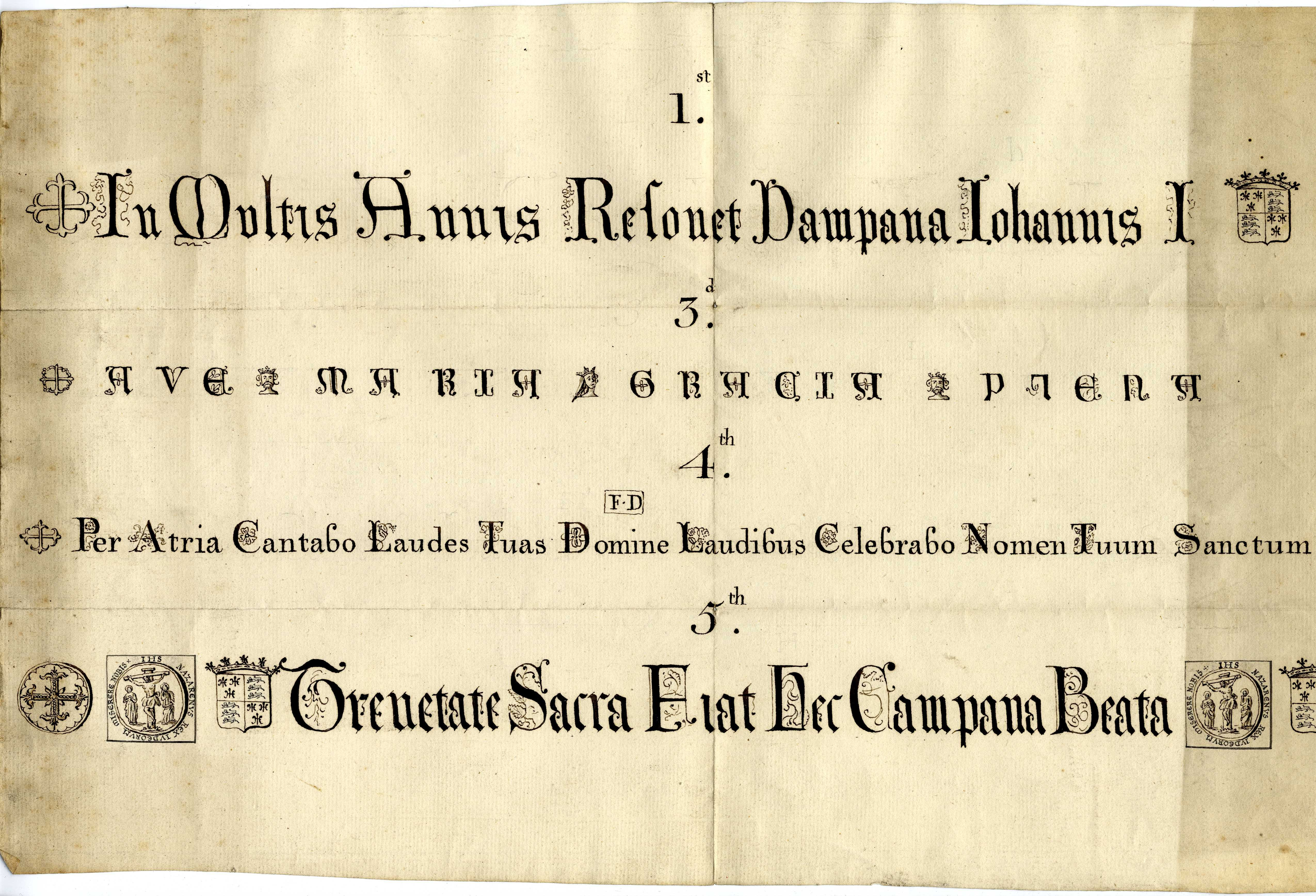 Inscriptions copied from the bells. [KCC/12]