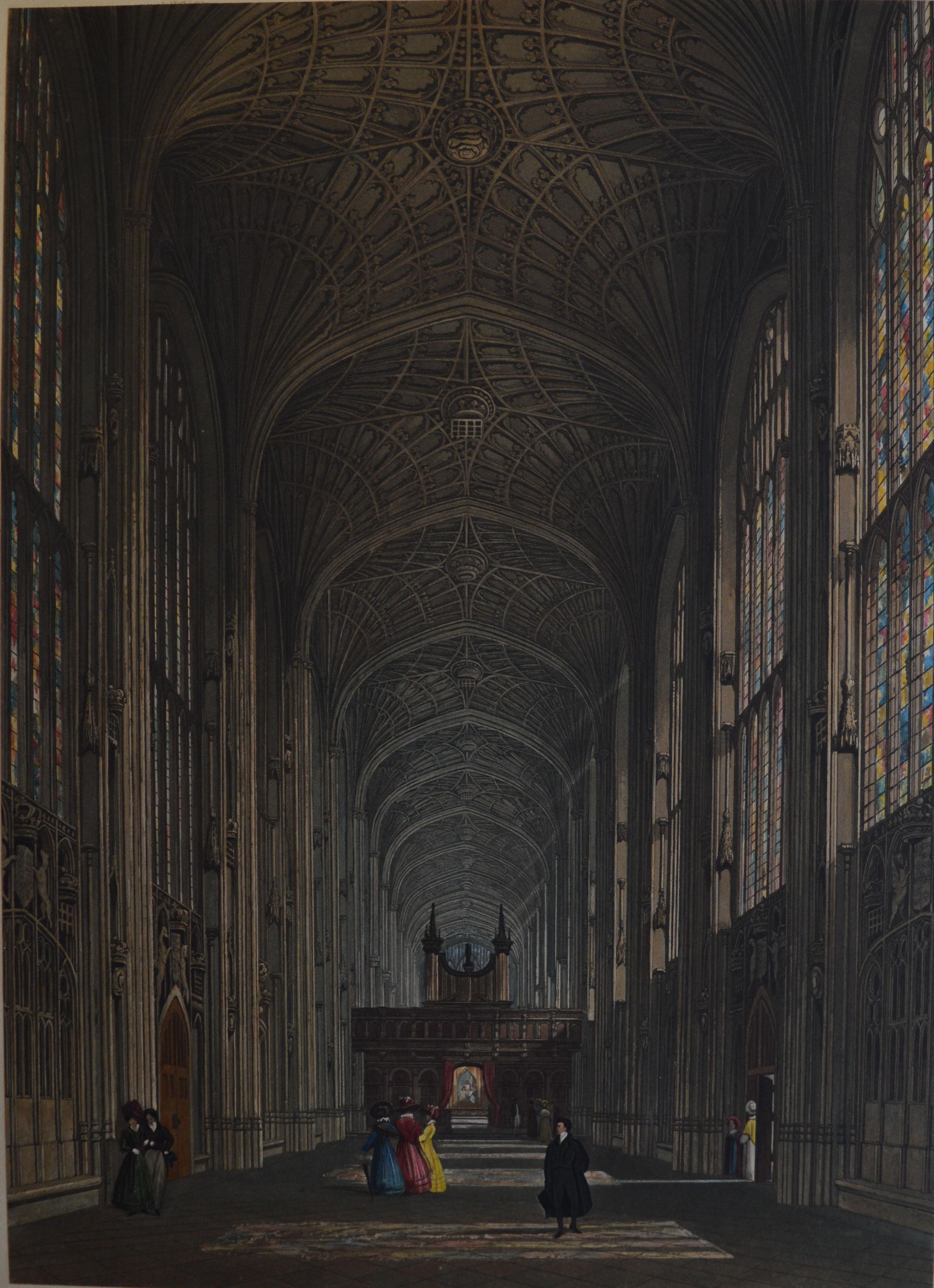 The organ case in 1828 had no angels. (KCC/455)