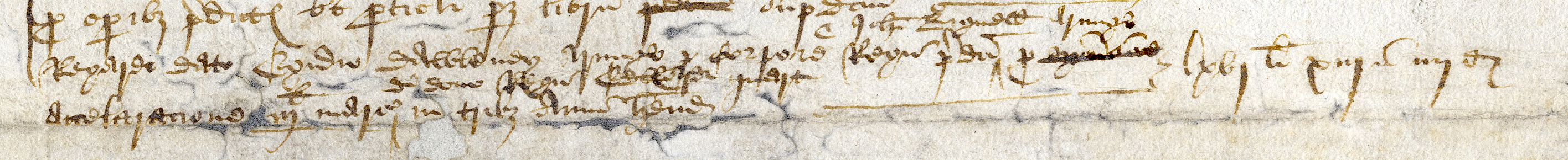 Rough building account of Provost Field, 1480-83, entry relating to Edward IV's gift. [KCD/80]