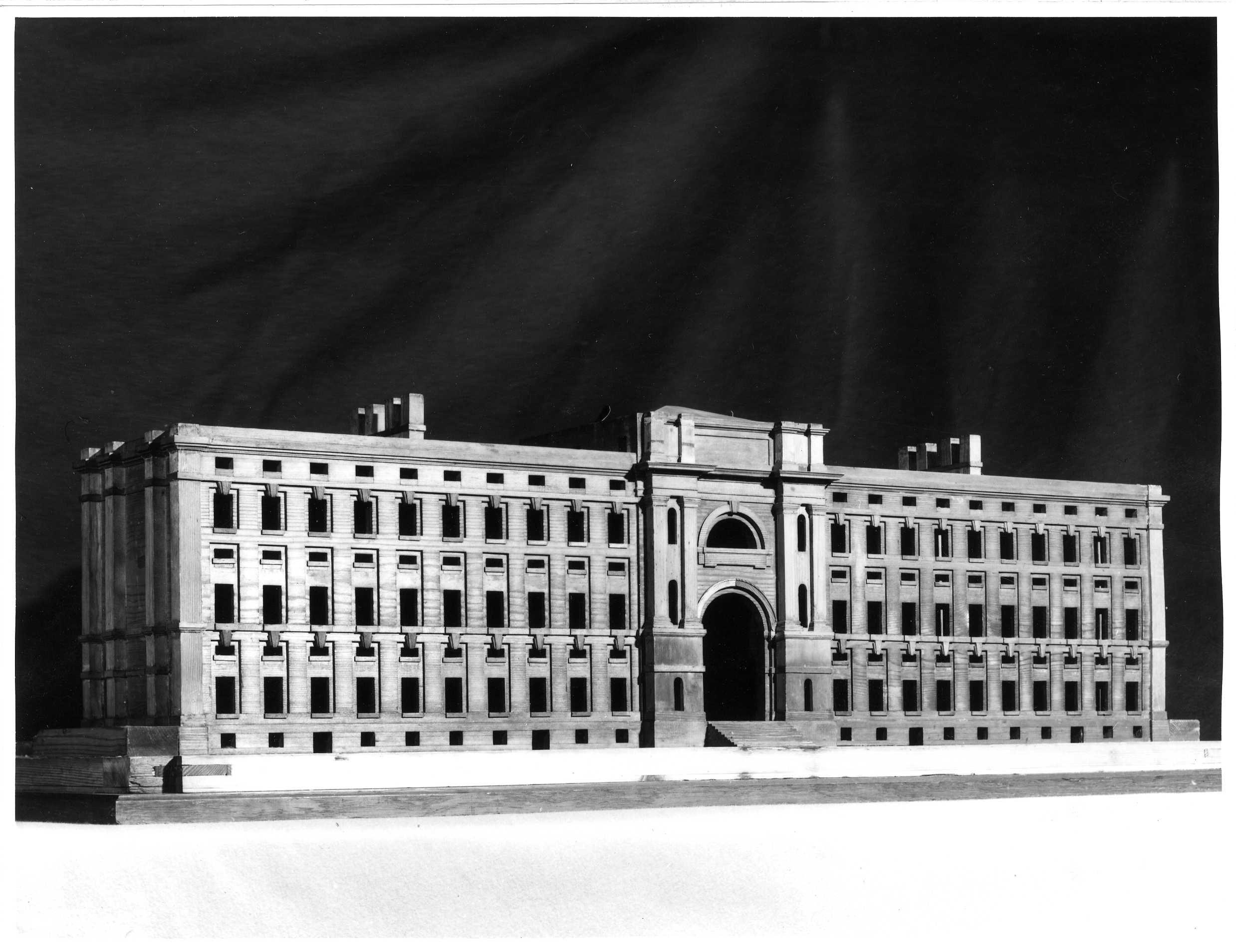Hawksmoor's second model, taken by Edward Leigh. [KCD/128]