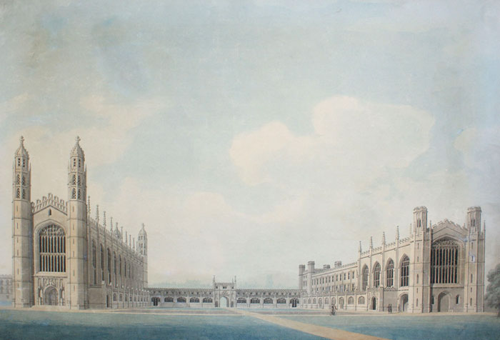 Perspective of the front court towards the east. James Wyatt, 1795 (KCD/627)