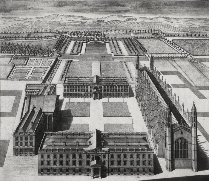 Bird's-eye view of Gibbs' scheme, c.1722-3