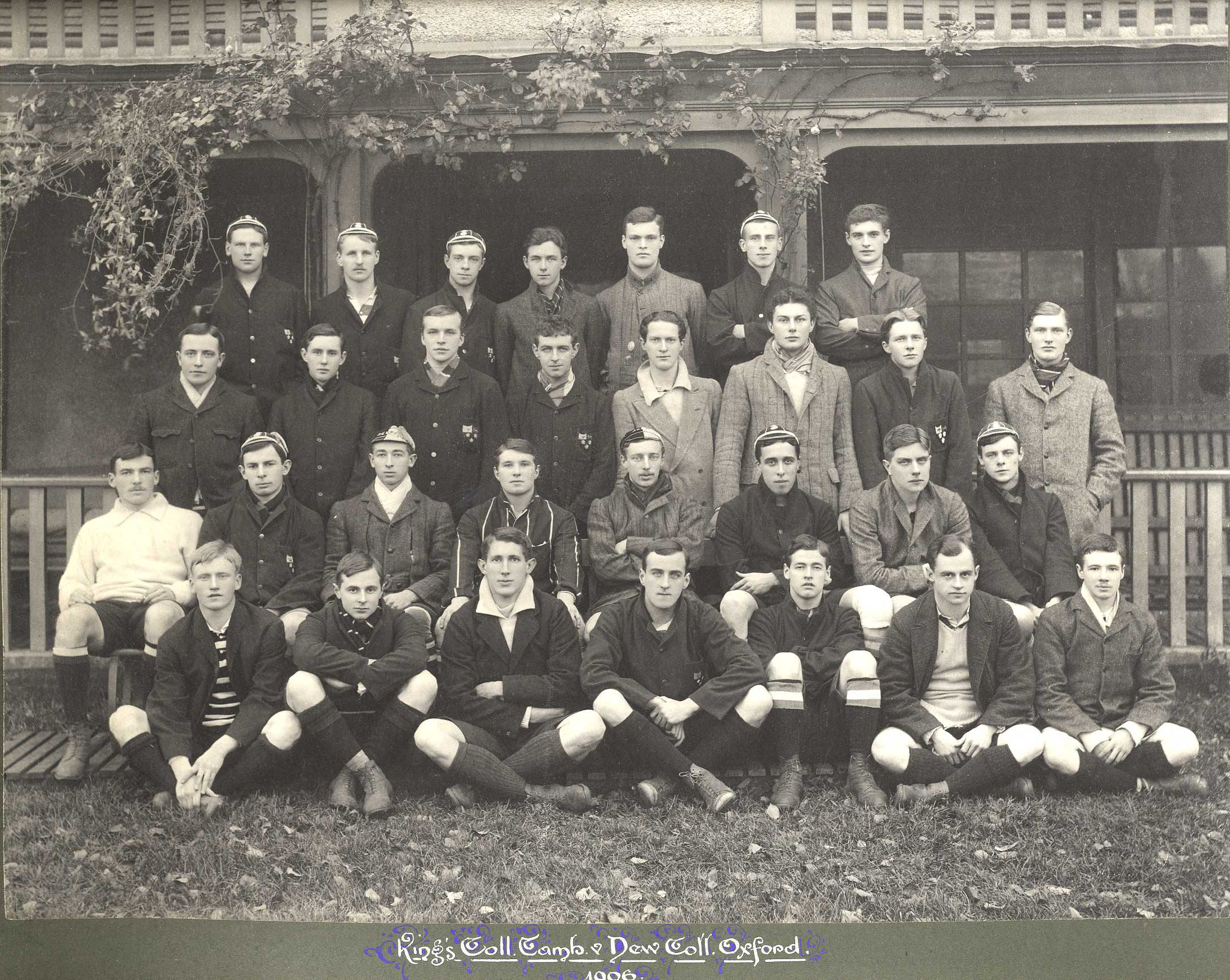 King's College Cambridge [Rugby Football team] vs. New College Oxford, 1907. [KCAC/1/3/6/4/2]