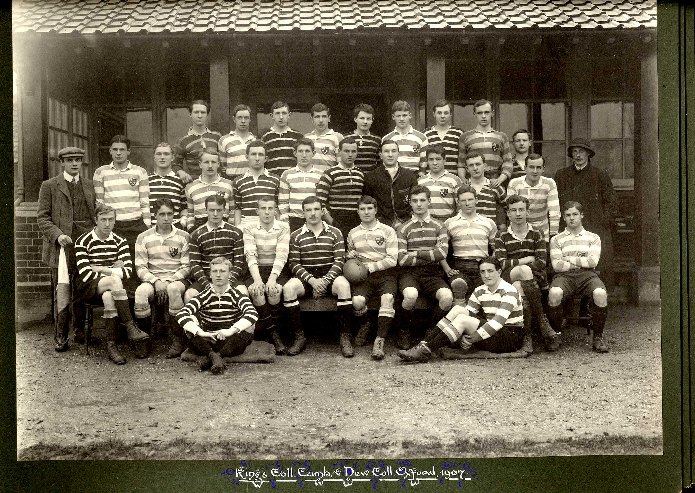 King's College Cambridge [Rugby Football team] vs. New College Oxford, 1906 [KCAC/1/3/6/4/2]