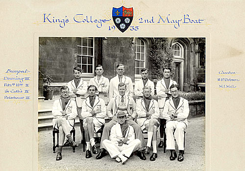 King's 2nd May Boat crew, 1935.