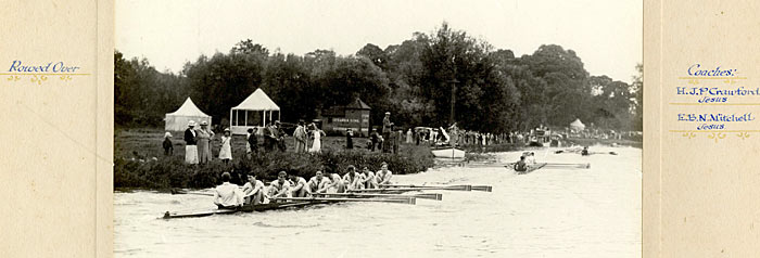 King's May Boat 1937 on the Cam.