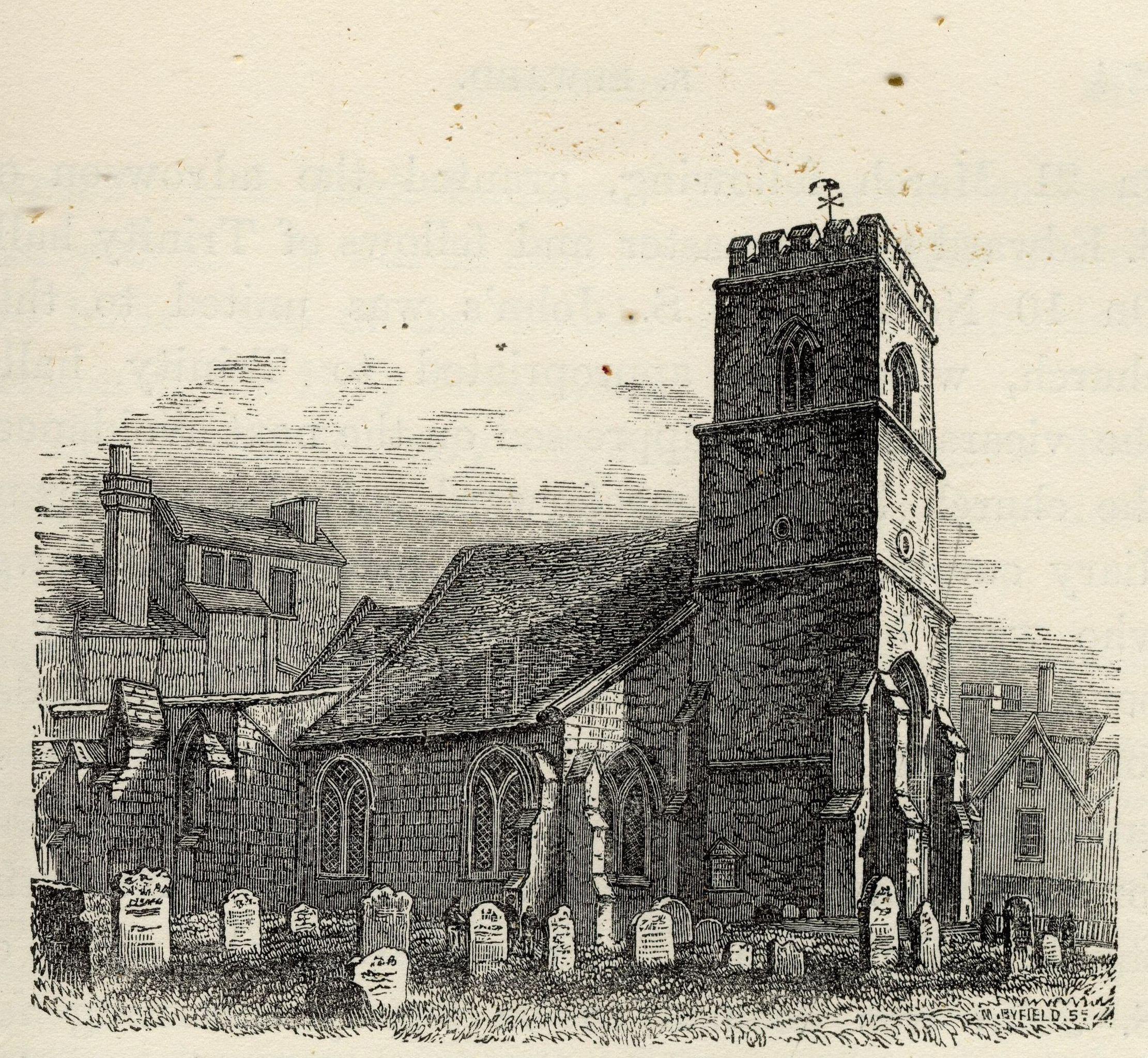 St Edward's church. (Cooper's Memorials: vol 3 p.273)