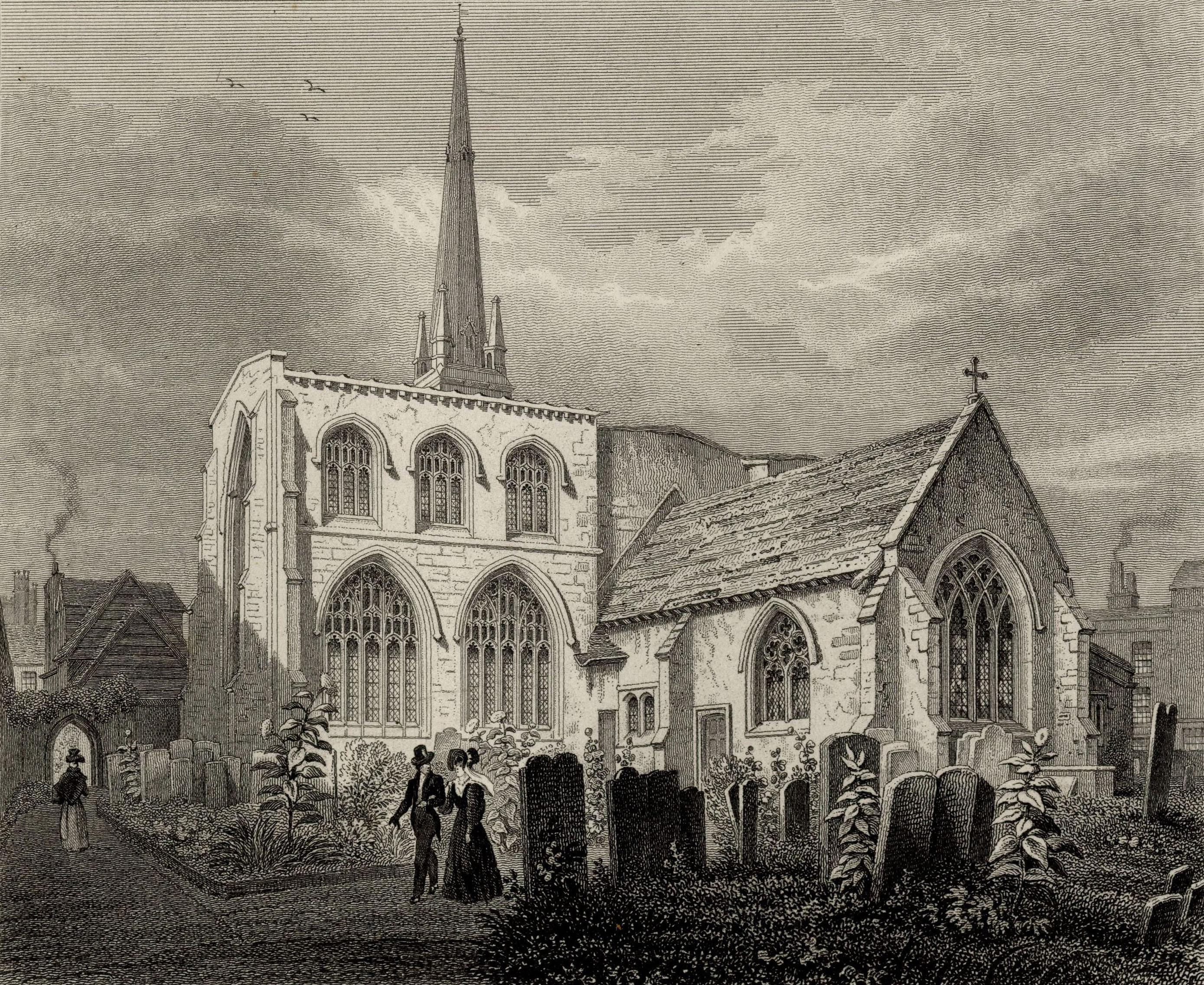 Holy Trinity Church, exterior. (Cooper's Memorials: Trinity exterior vol 3 p.382)