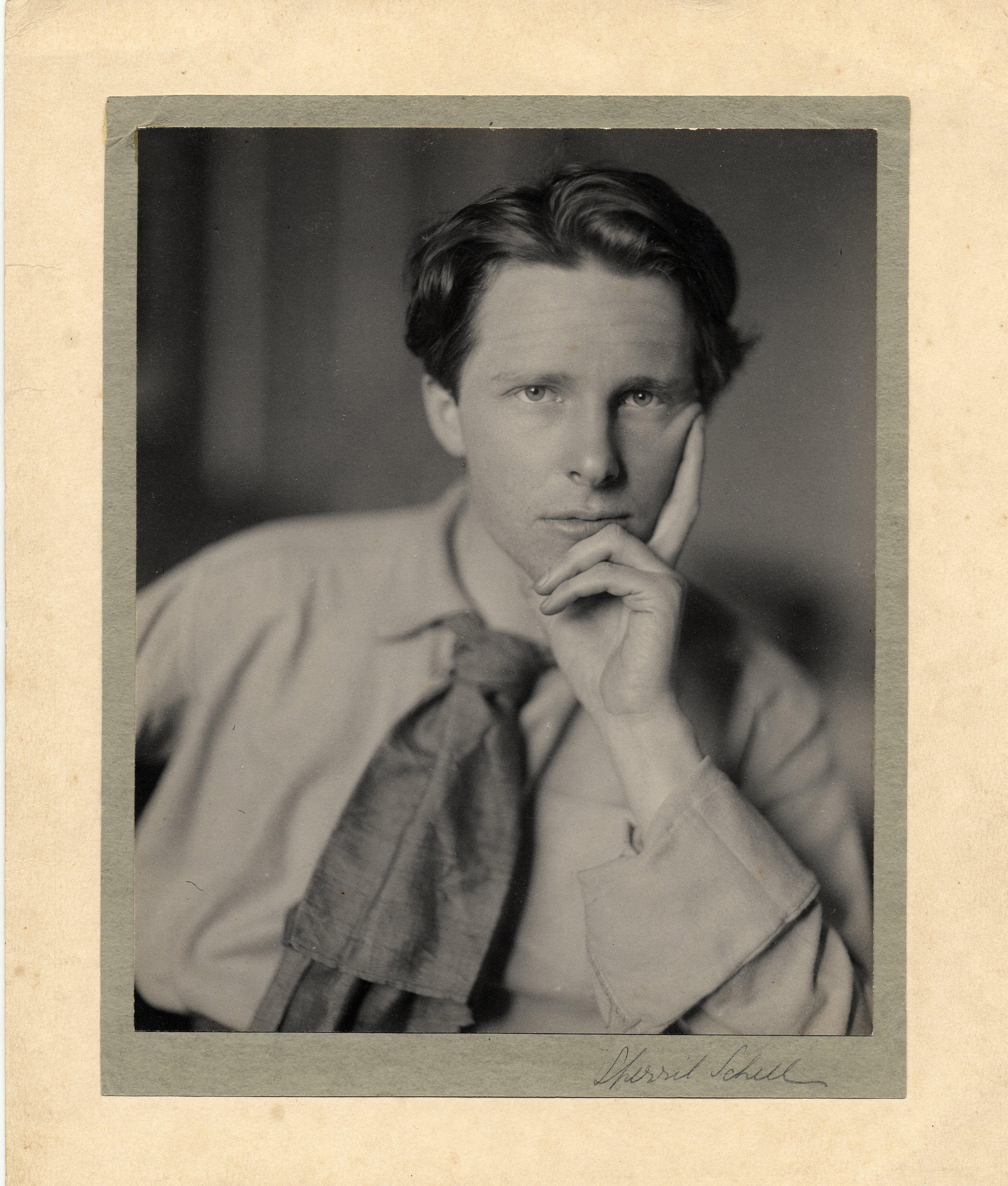 Studio portrait of Rupert Brooke, taken by Sherril Schell, April 1913 (RCB/Ph/178)