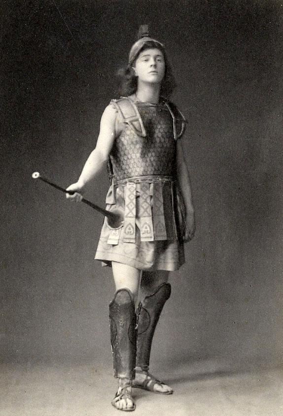 Rupert Brooke as herald in Eumenides, 1906 (RCB/Ph/46)