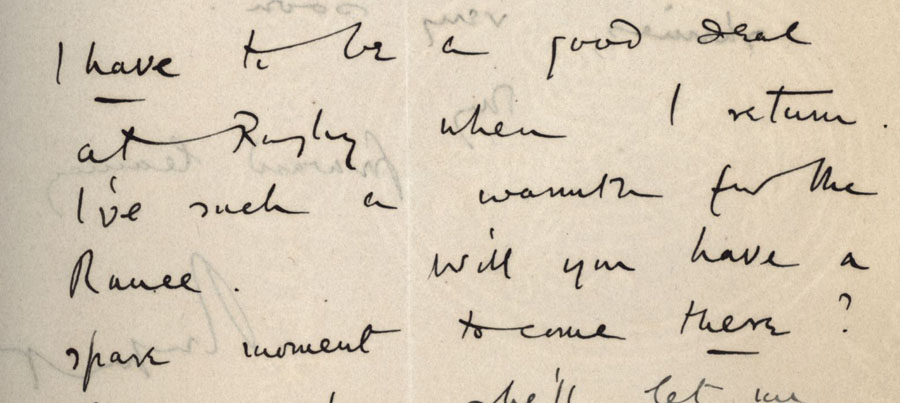 Part of a letter from Rupert Brooke to Edward Marsh, 24 May [1914] (RCB/S/5/2, 162(4) recto).