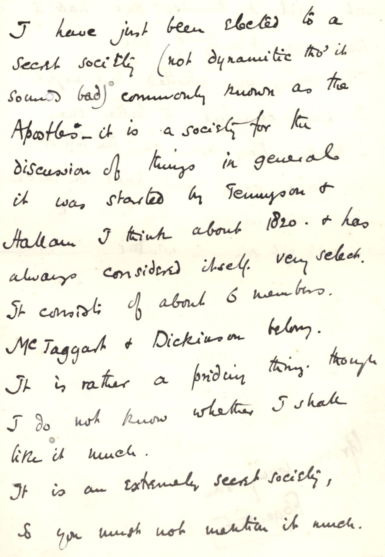 Letter from Fry to his mother, 26 May 1887. [REF/3/57/24]