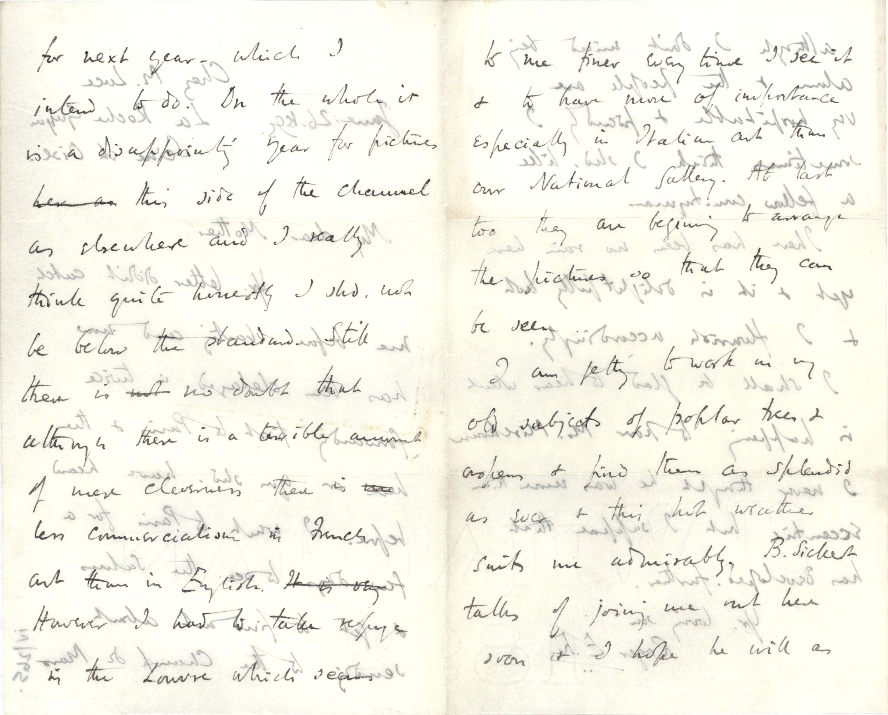 Letter from Roger Fry to his mother, 26 June 1895. [REF/3/29]