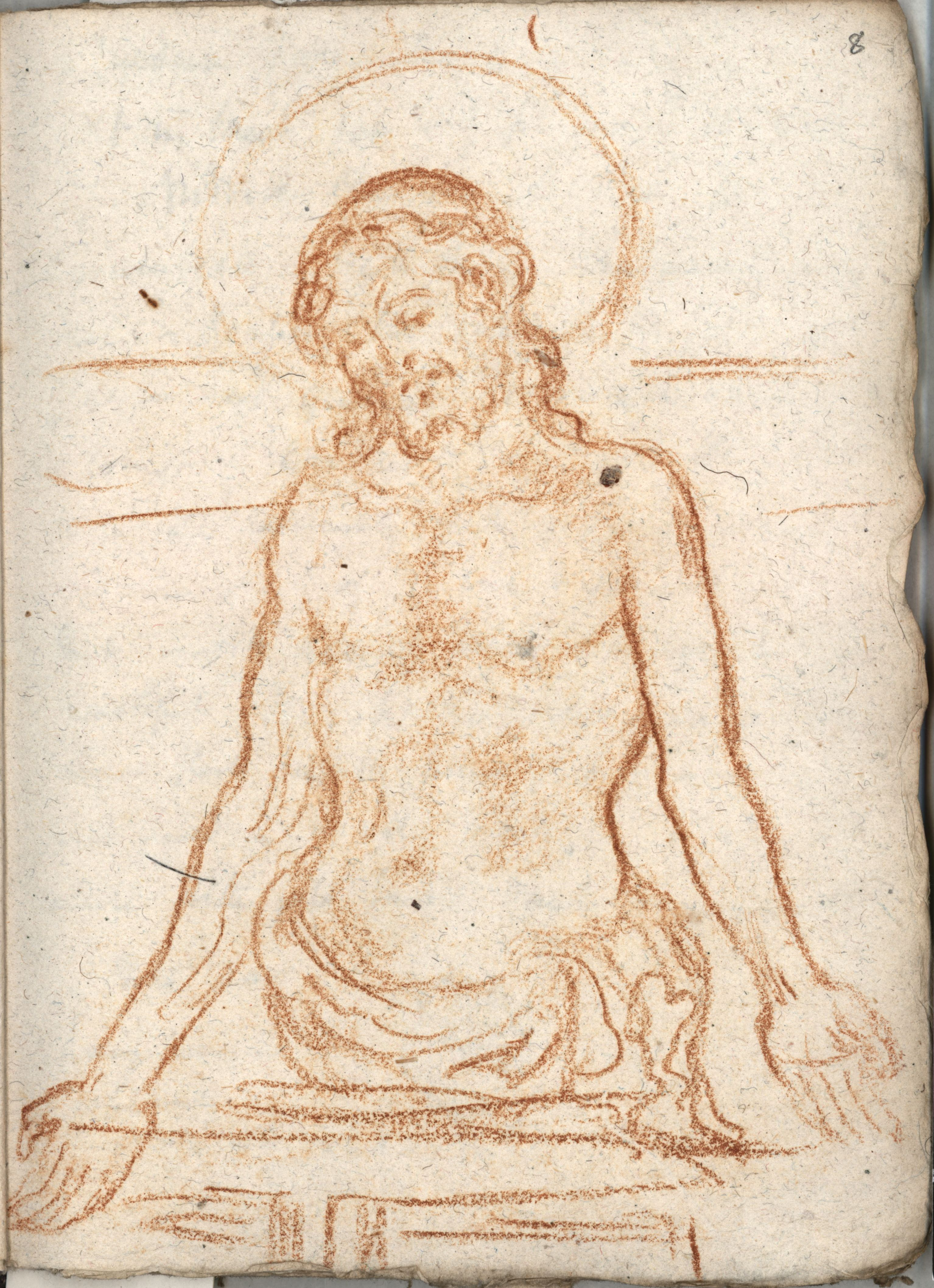 Drawing by Roger Fry, 1902, after Giambono's 'Man of Sorrows'. [REF/4/1/24]