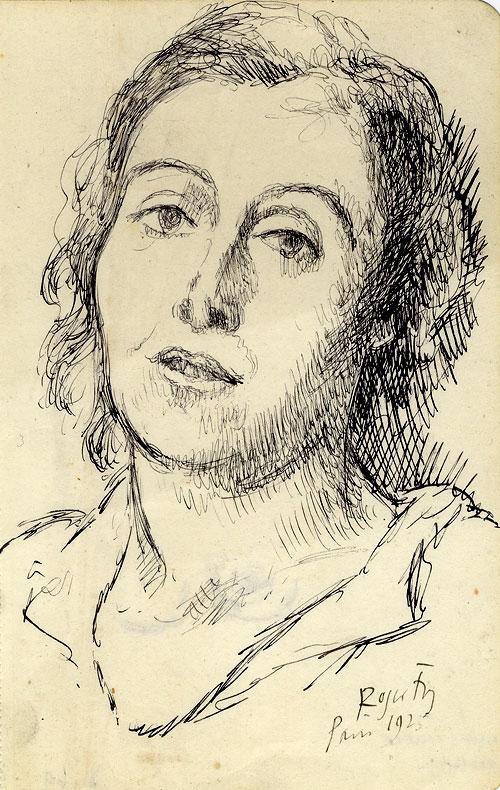 Sketch of Helen Anrep, drawn in Paris, 1925 (REF/4/8/14)