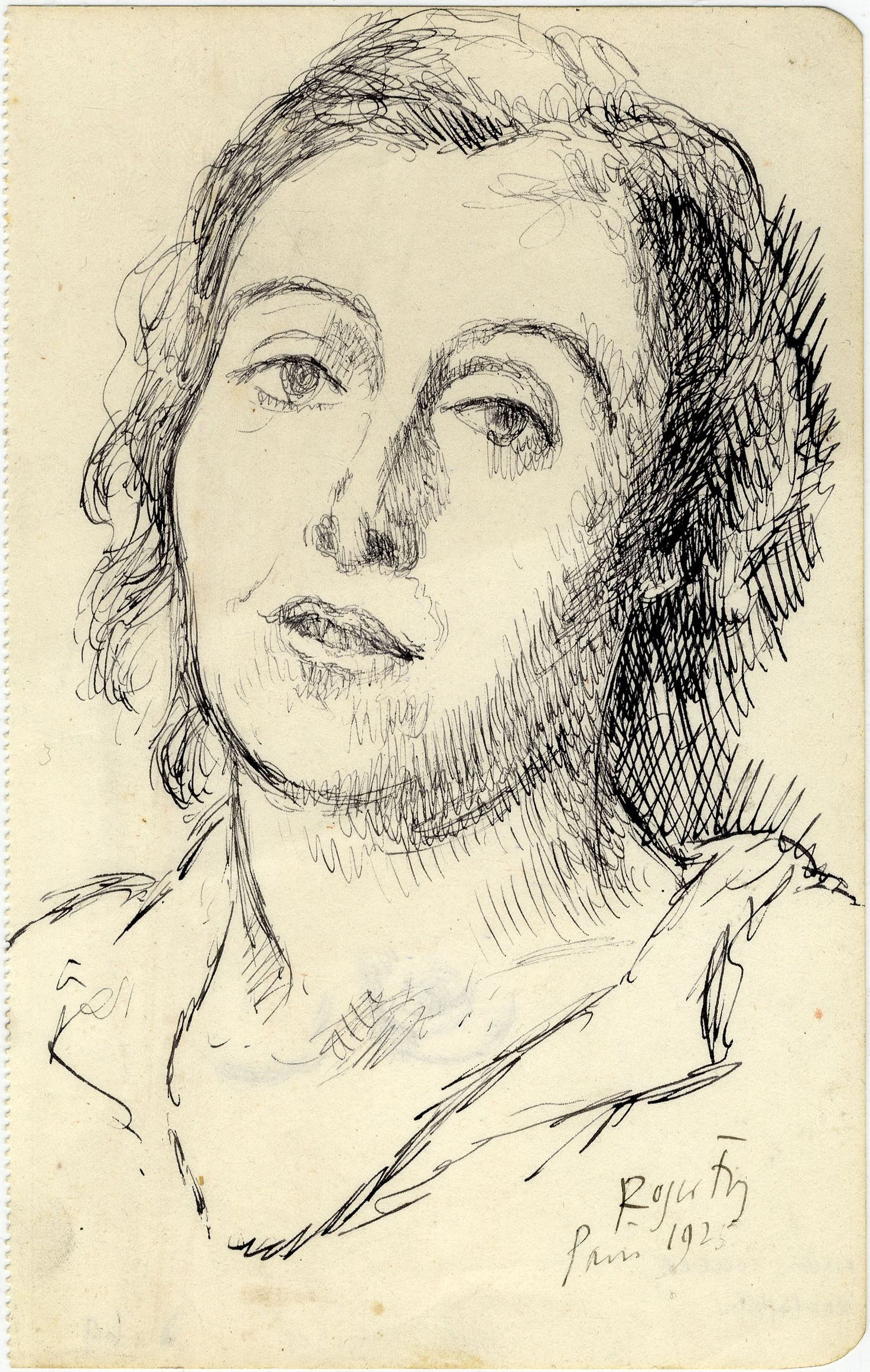 Sketch of Helen Anrep, drawn in Paris, 1925. [REF/4/8/14]