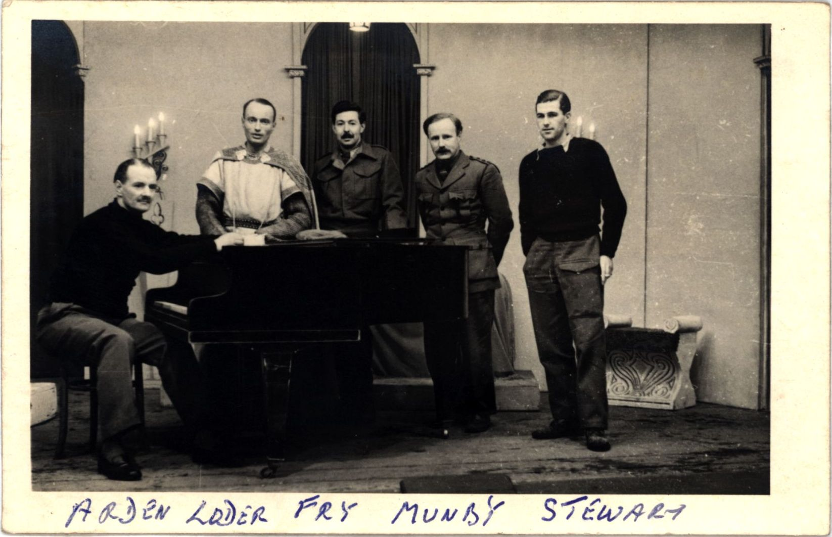 Tim Munby (second from right) and Bobby Loder (second from left) with fellow POWs