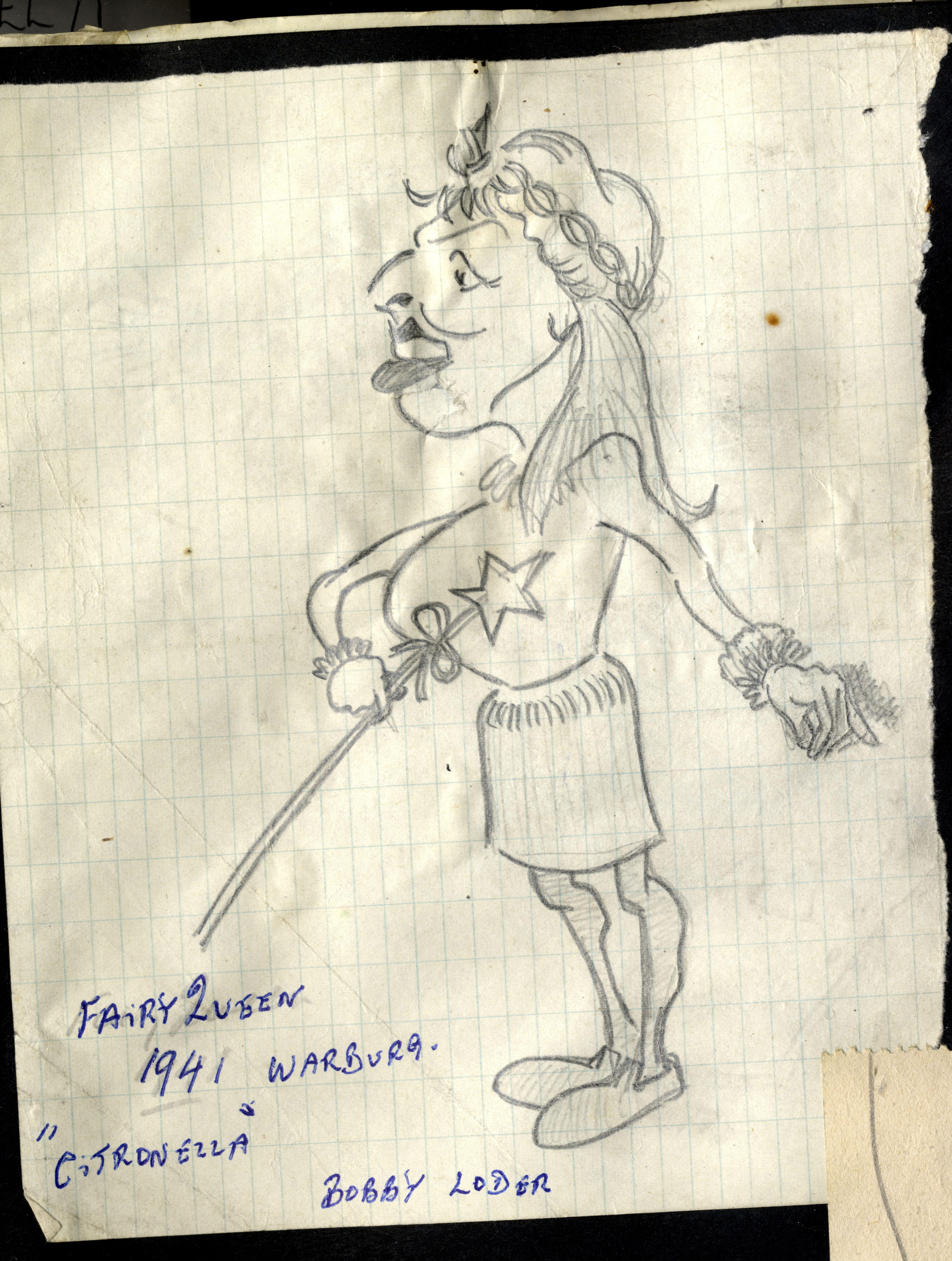 Costume design for the pantomime Citronella, 1941