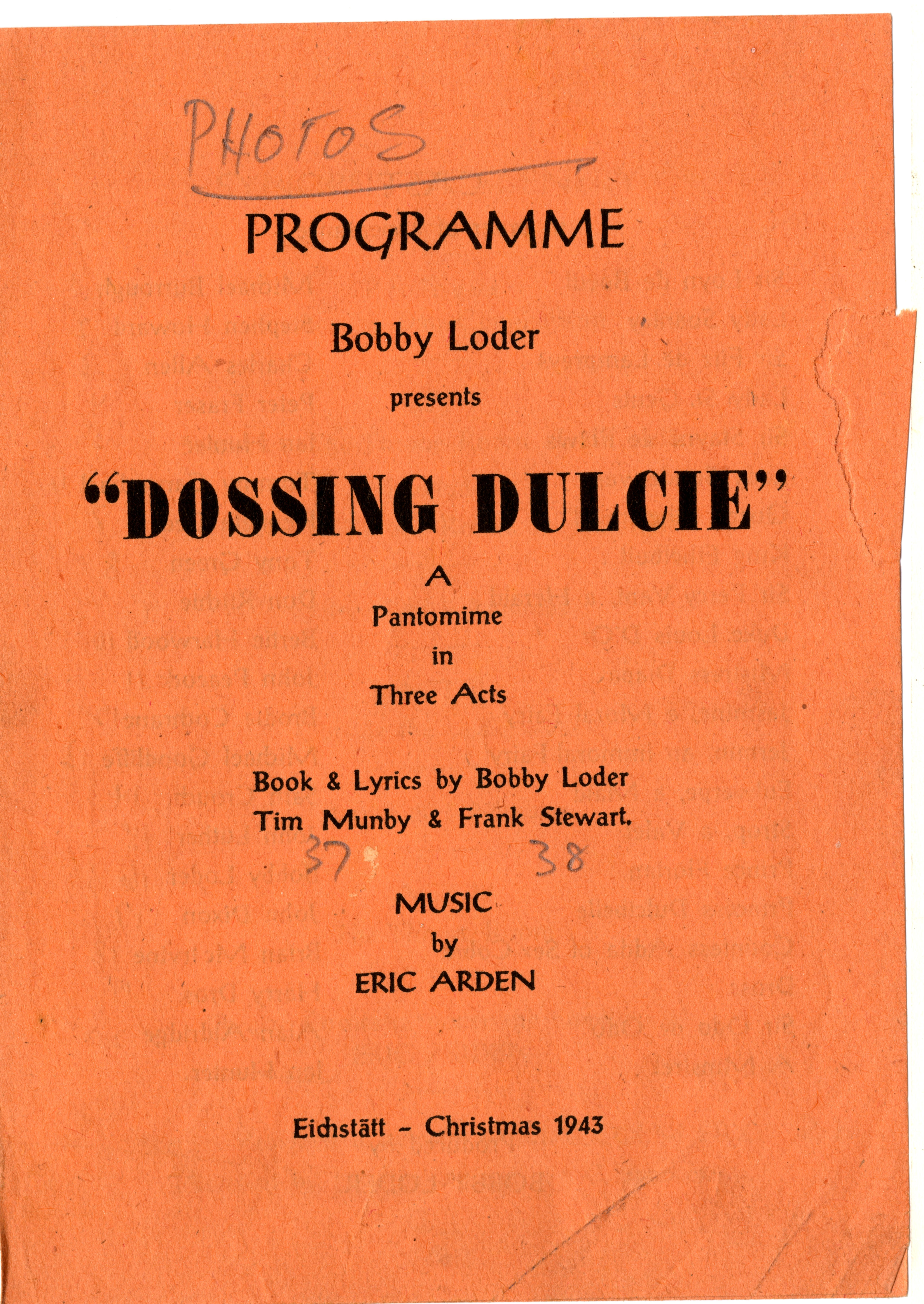 Programme for Dossing Dulcie