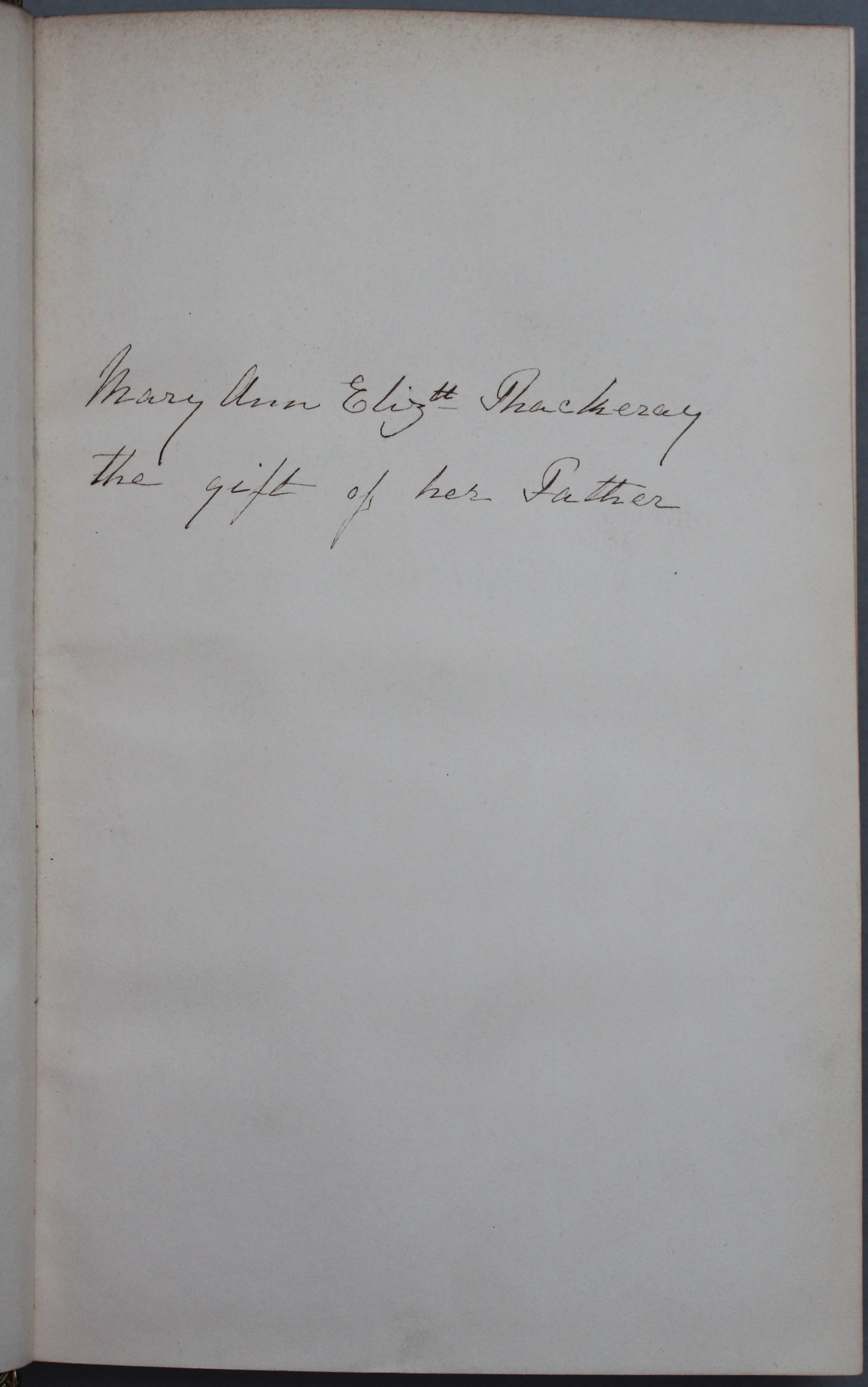 The Family Shakespeare was a gift to Mary Ann Elizabeth Thackeray from her father (Thackeray.J.63.1)