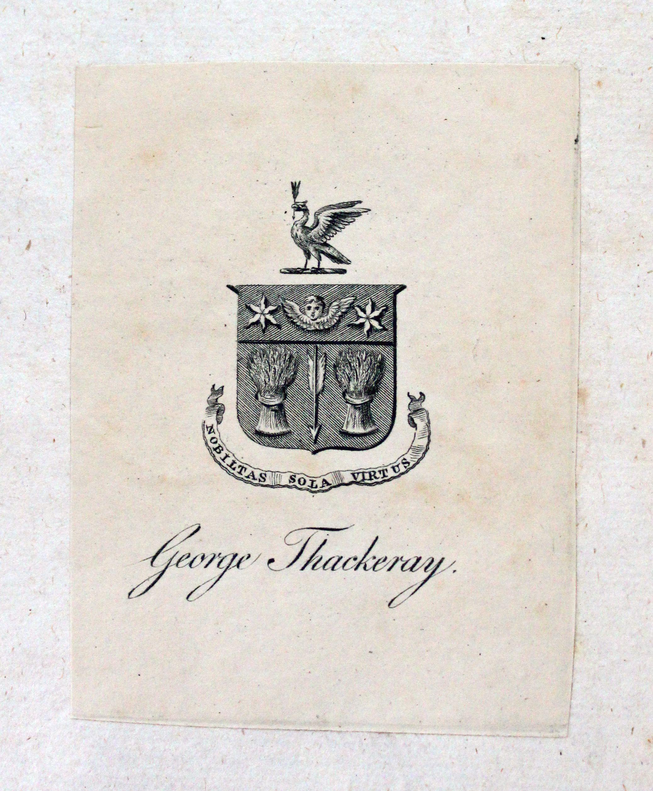 Thackeray's book plate
