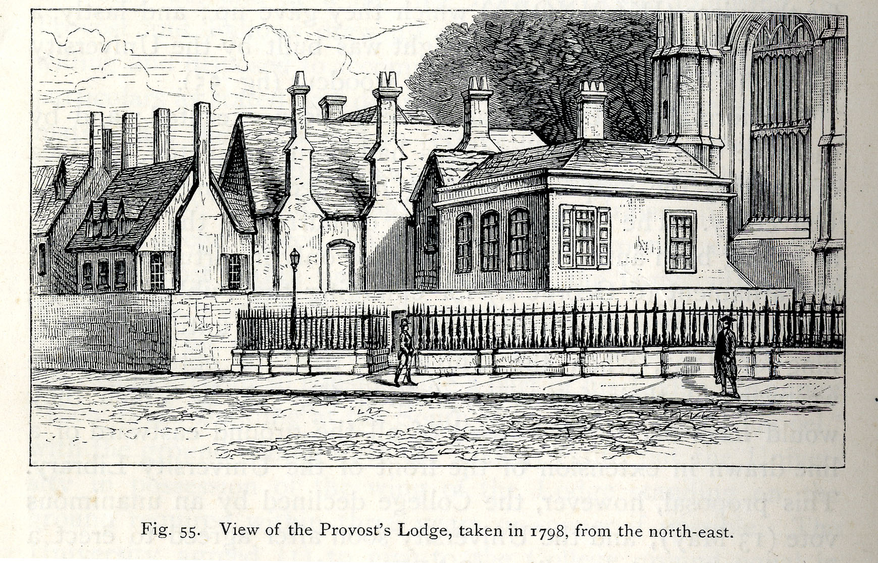 View of the Provost's Lodge, taken in 1798, from the north-east (Willis and Clark, vol. 1, p. 544, fig. 55).