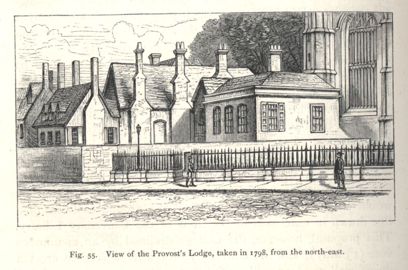View of the Provost's Lodge, taken in 1798, from the north-east. [Willis and Clark, vol. 1, p. 548, fig. 55]
