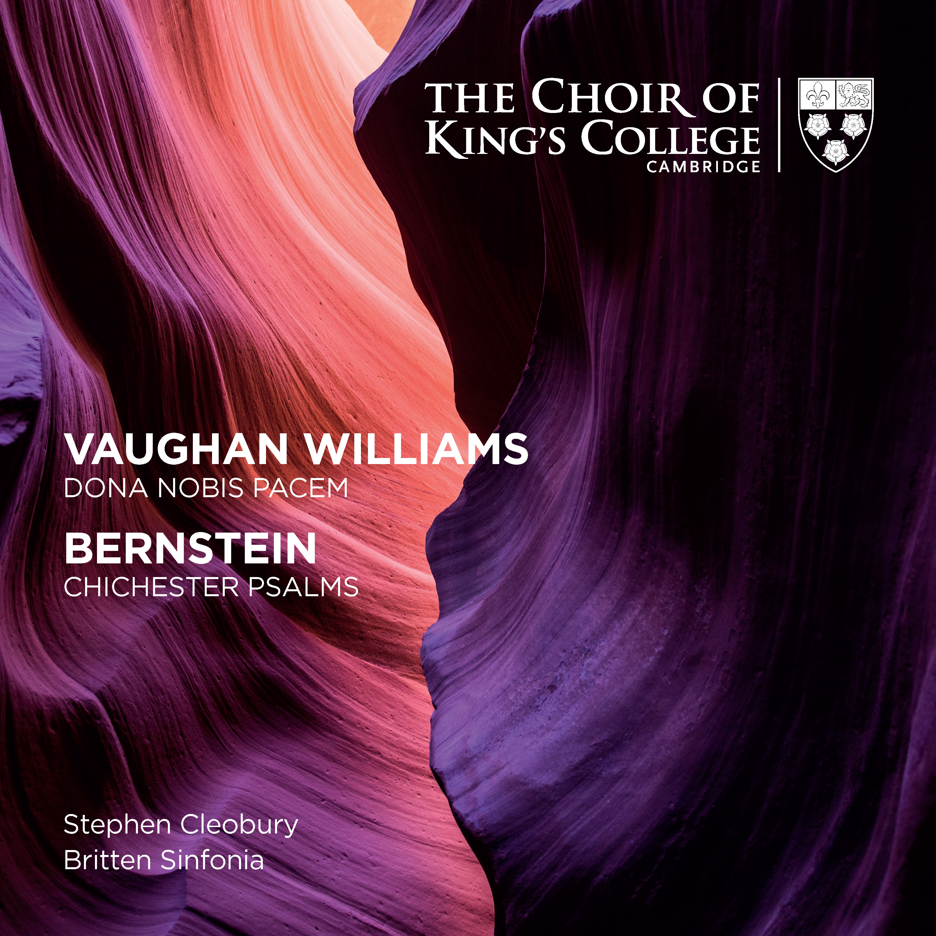 Album cover – Bernstein & Vaughan Williams