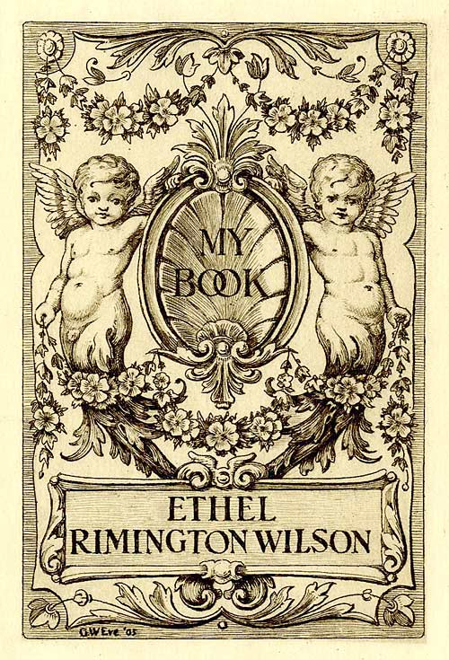 Bookplate of Ethel Rimington Wilson (c. 1905)