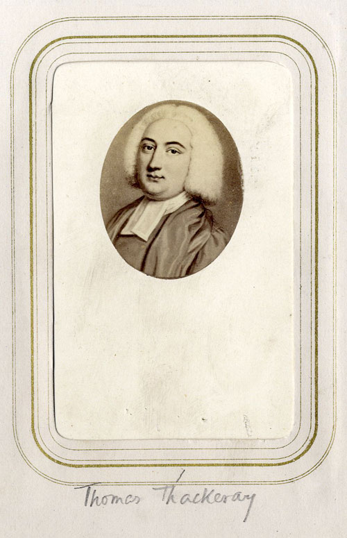 Thomas Thackeray, candidate for Provostship (Coll Photo 545/1)