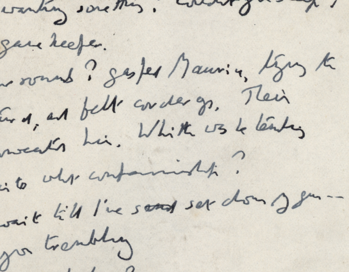 Extract from the 'Maurice' manuscript