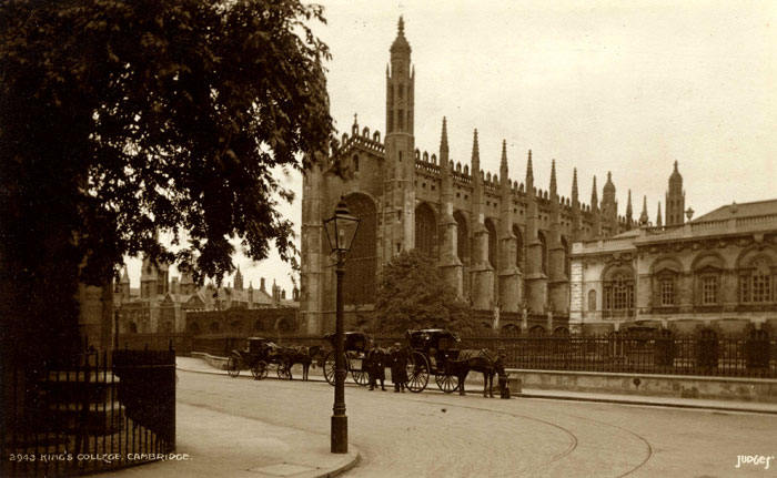 Screen, Chapel and Senate House – outside College (Judges Ltd., Hastings, EMF/27/237)