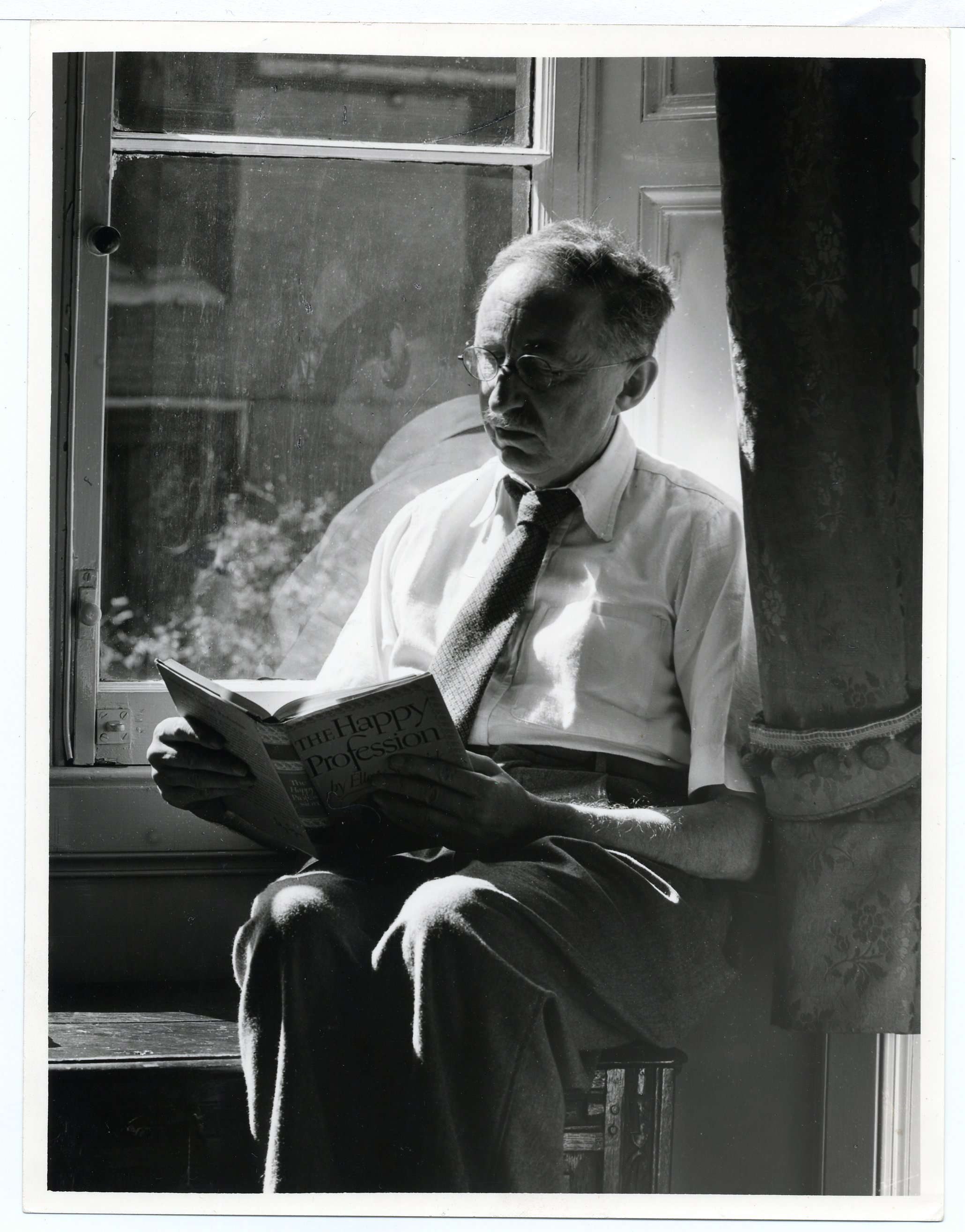 Forster in his rooms in the late 1950s (Photographer: Edward Leigh)