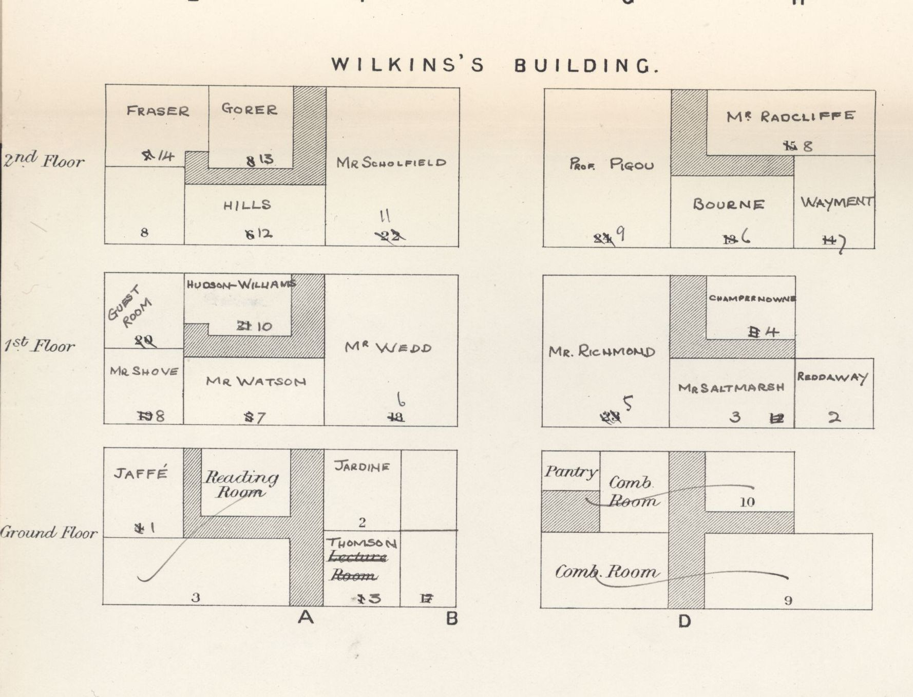 Extract from the 1933 room rent diagram