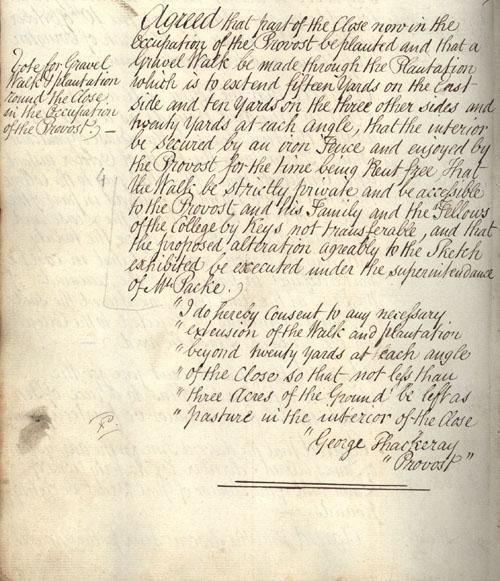 Congregation minutes, 20 October 1836 (KCGB/4/1/1/4).