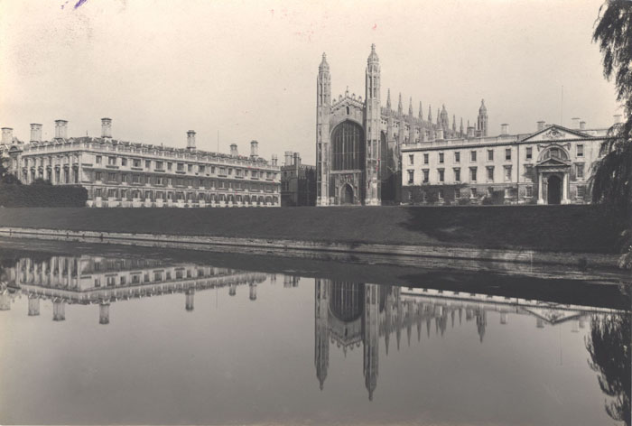 Photograph of King's College Chapel, the Gibbs' building and Clare College, by Country Life.