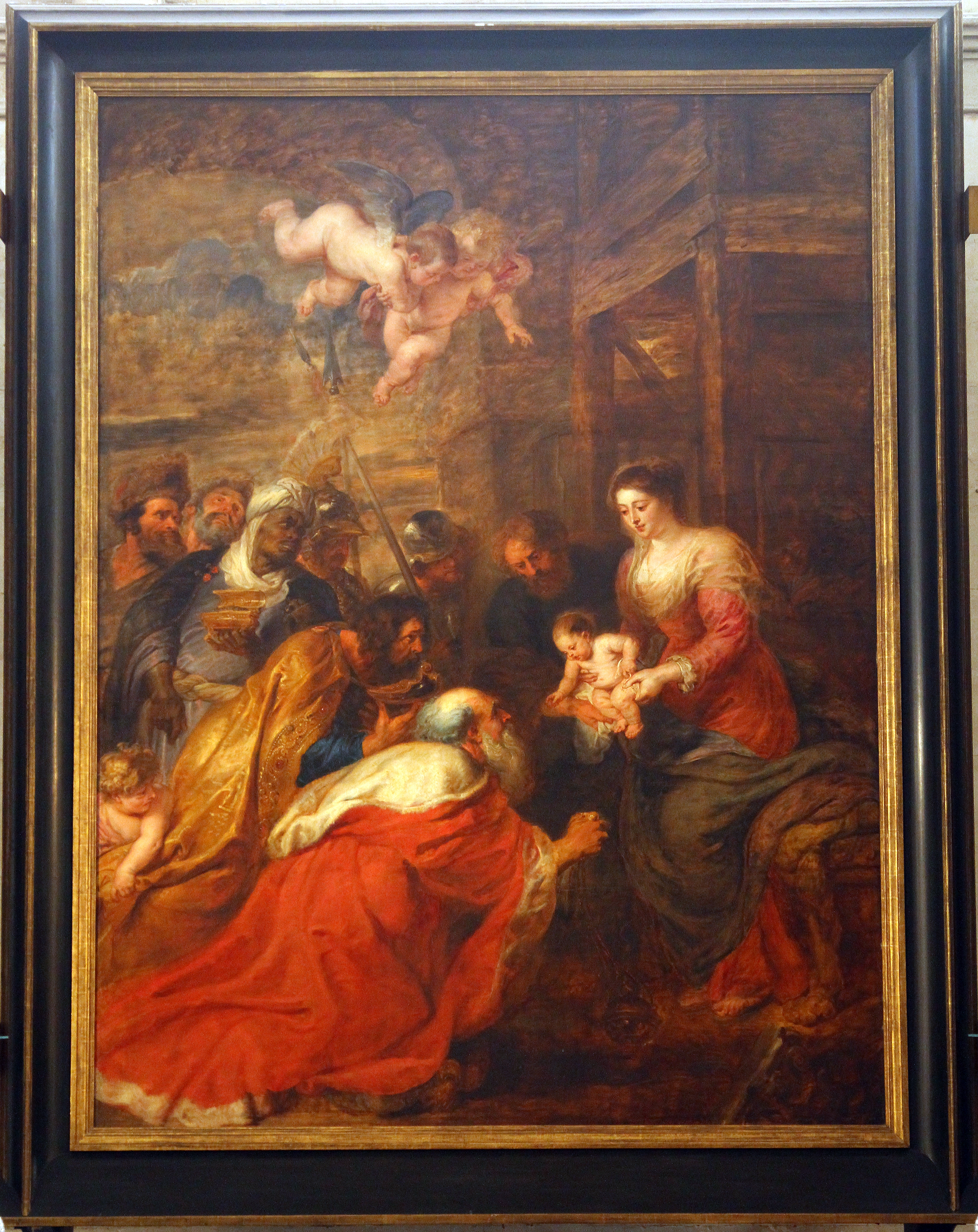 'The Adoration of the Magi' by Rubens, which forms the altarpiece of the Chapel