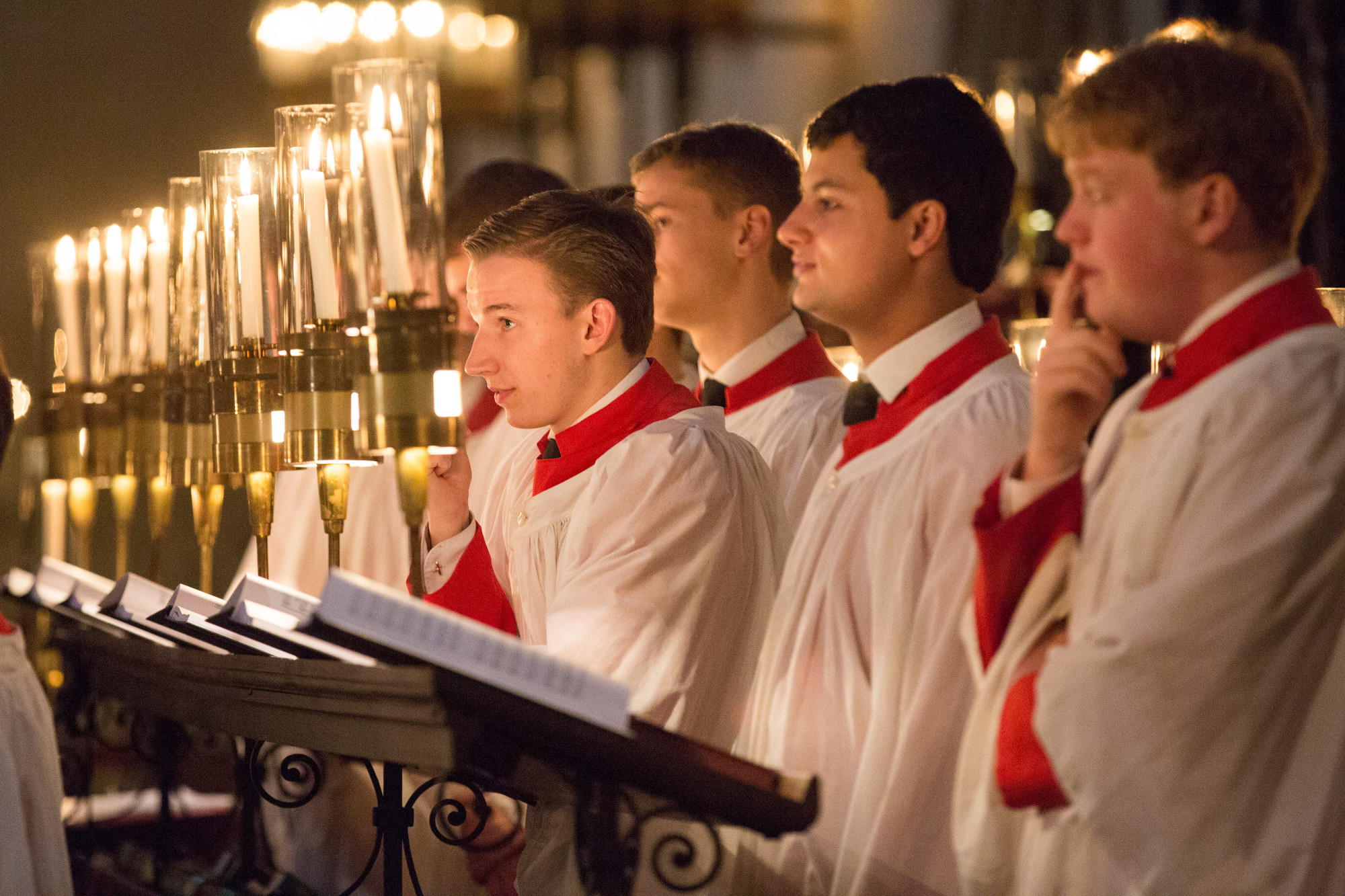 Choral Scholars in the stalls