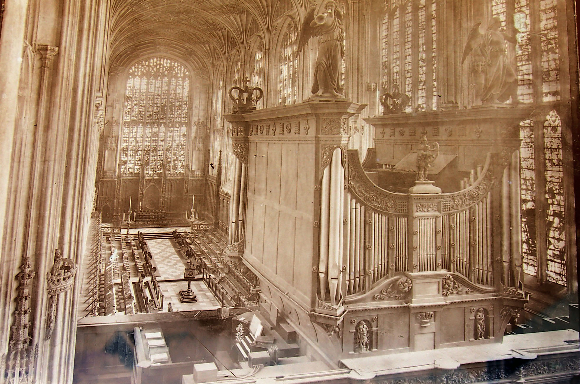 View of the organ, looking towards the Choir. (KCC/627)