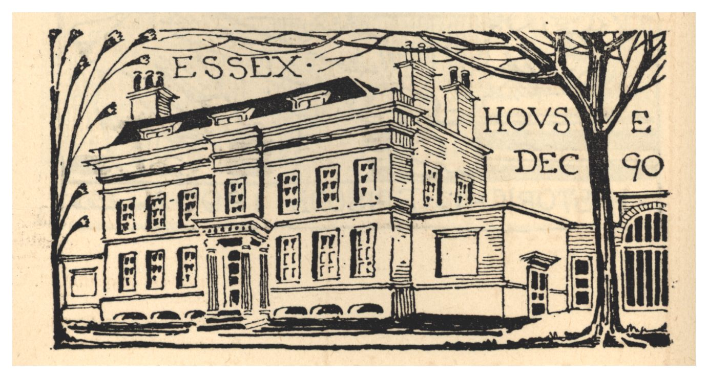 Essex House, Mile End. [Ashbee (1890) 'Transactions of the Guild & School of Handicraft, vol. I., 1890', p.28]