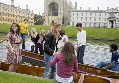 King's students messing about in boats.