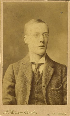Edward J Dent, 1900 (photographer J. Palmer Clarke. EJD/5/1/1)
