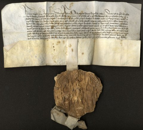 Founder's temporary grant that the Provost be a Justice of the Peace for Cambridge and Cambridgeshire, 18 February 1459. (KC/37)