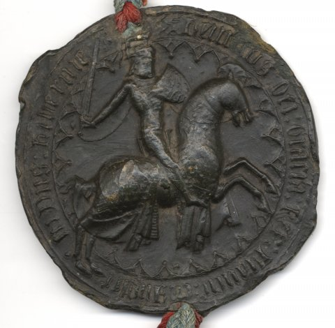 Seal attached to the  Royal Letters Patent of Henry VI, 1442 (KCE/134)