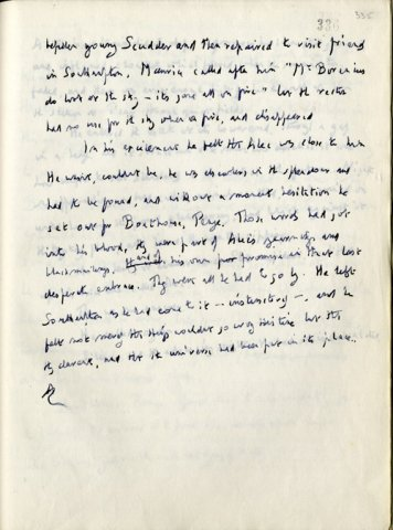 Page of manuscript alterations inserted into 1932 typescript of Maurice (EMF/vol4/1)